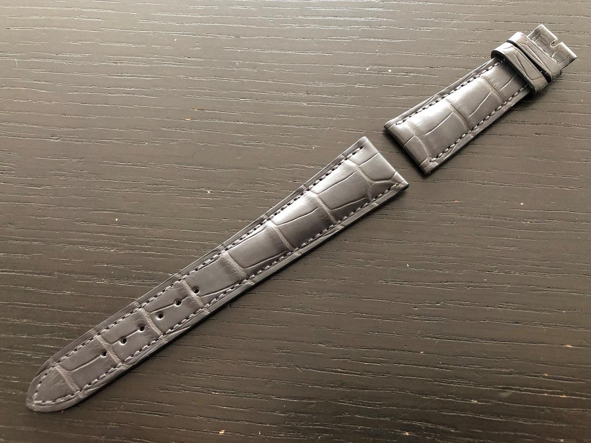パテックフィリップ(PATEK PHILIPPE)レザー(革)ベルト 21×16mm ライトブラウン×アイボリーステッチ 未使用11-03