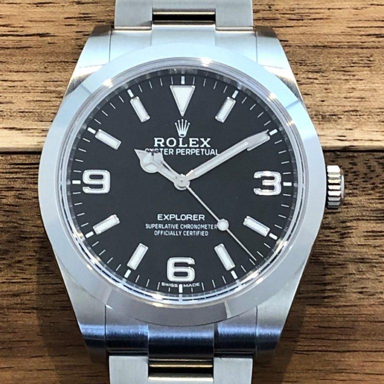 ロレックス(ROLEX)エクスプローラー1 Ref.214270 ランダム番 SS 新ダイアル 中古