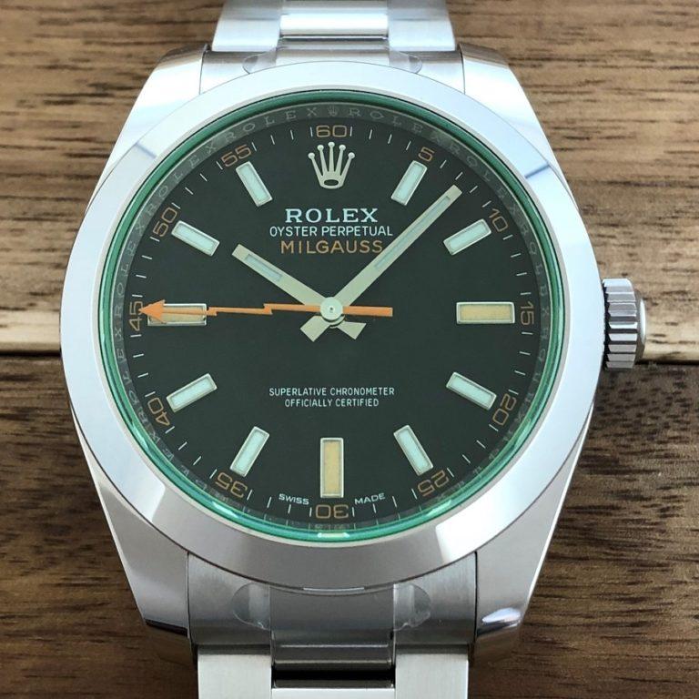 ロレックス(ROLEX)ミルガウス Ref.116400GV 黒文字盤 グリーンガラス SS 未使用