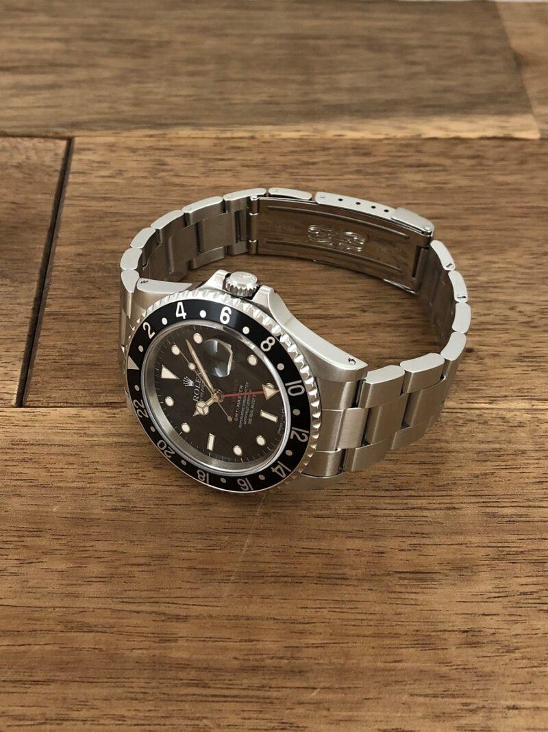 ロレックス GMTマスター 16700 U番 ザ・リアルマッコイズ 限定50本 の正面から全体の画像。